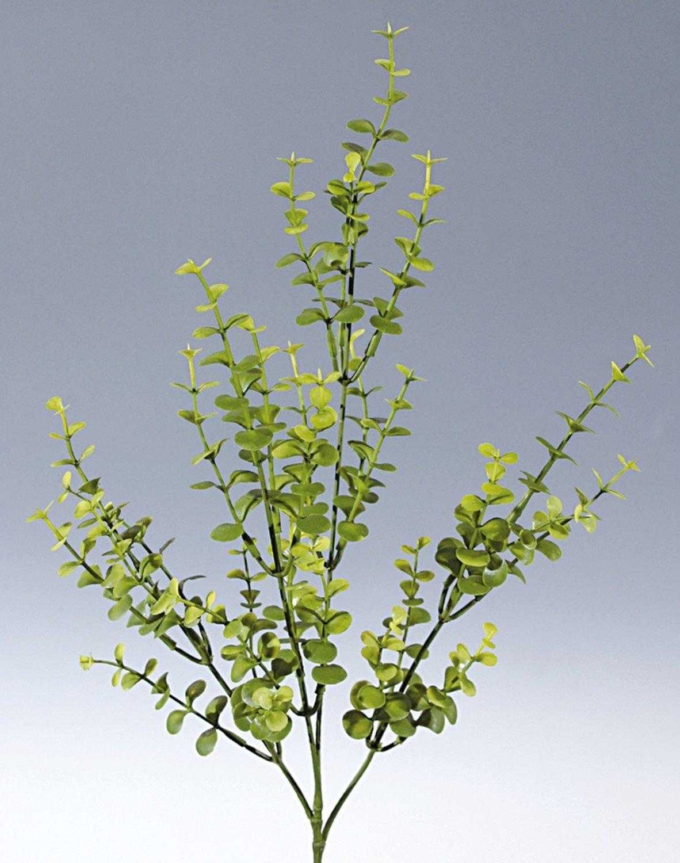 Künstlicher Eukalyptuszweig aus Kunststoff, 4-fach, 60 cm, hellgrün