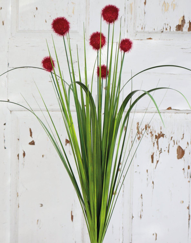 Künstliche Kugelgras, 75 cm, rot