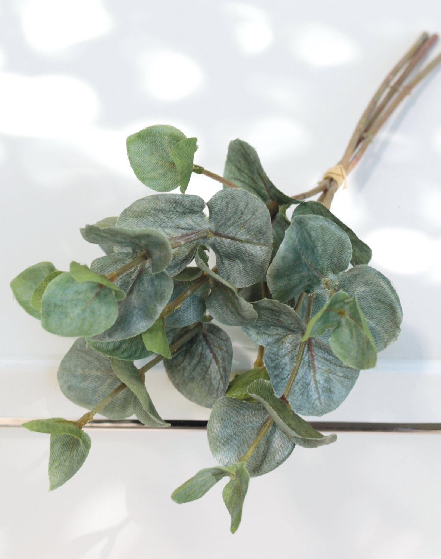 Künstlicher Eukalyptusbund, 3-fach, 32 cm, grün