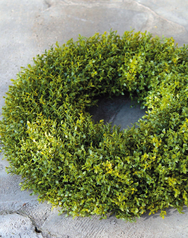 Künstlicher Graskranz aus Kunststoff, Ø 37 cm, grün