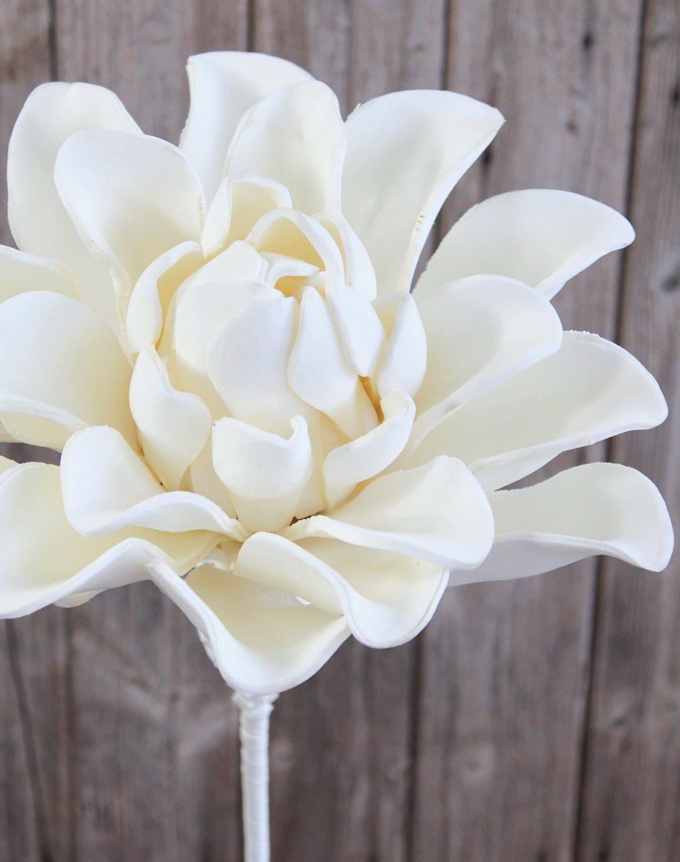 Künstliche Soft flower 'Blüte', 95 cm, weiß