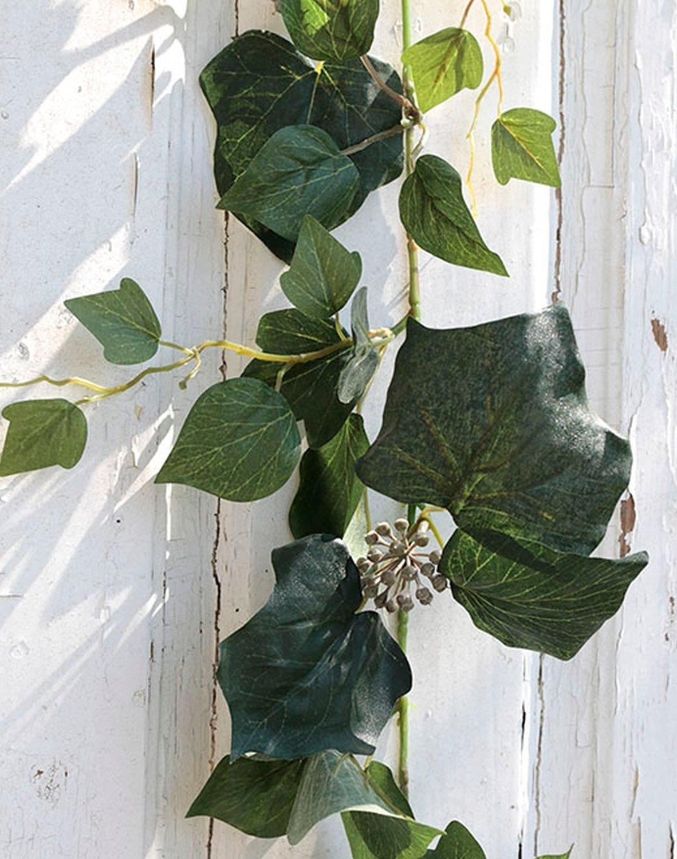 Künstliche Schwarzpappel Girlande, 180 cm, grün
