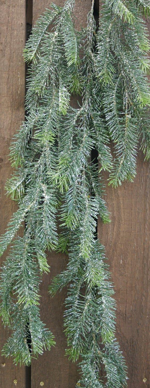 Künstliche Nordmann-Tannengirlande, mit Eis, 140 cm, grün-weiß