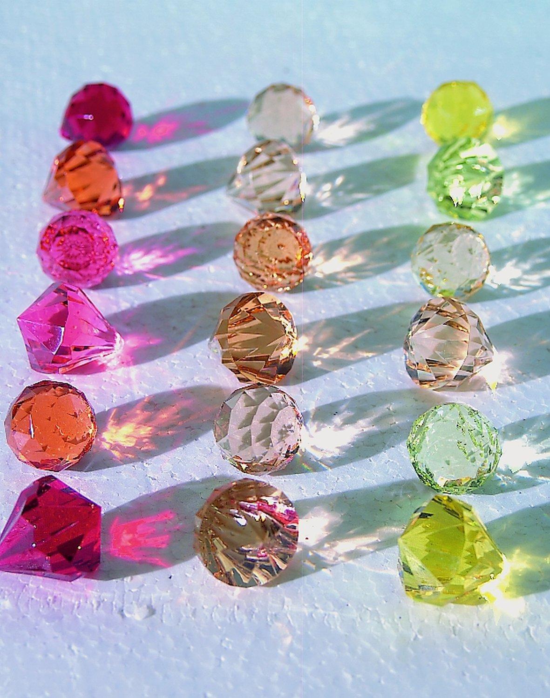 Deko Diamanten / -kugeln, 3 Farbtöne, 3 cm, goldgelb