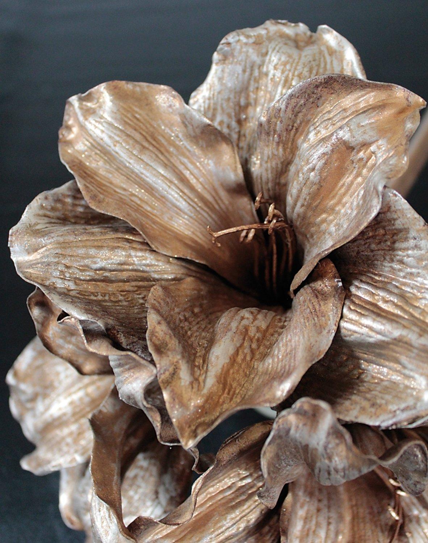 Künstliche Amaryllis, 81 cm, gold