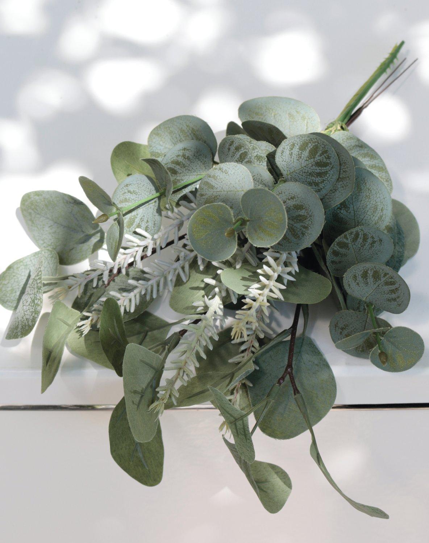 Künstlicher Eukalyptus- / Rosmarinbund, 30 cm, grün-grau
