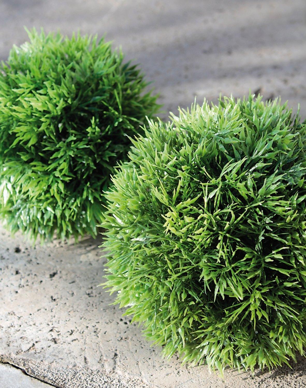 Künstliche Graskugel aus Kunststoff, Ø 12 cm, grün