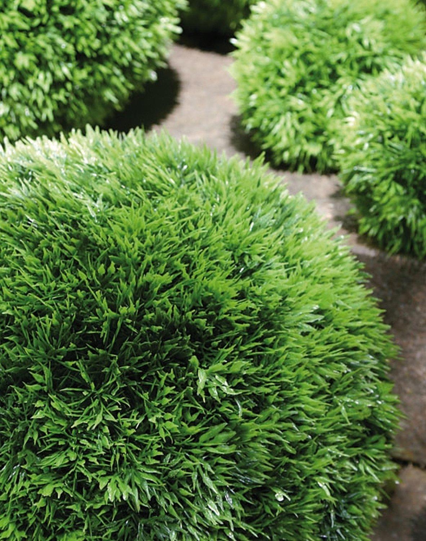 Künstliche Graskugel aus Kunststoff, Ø 46 cm, grün