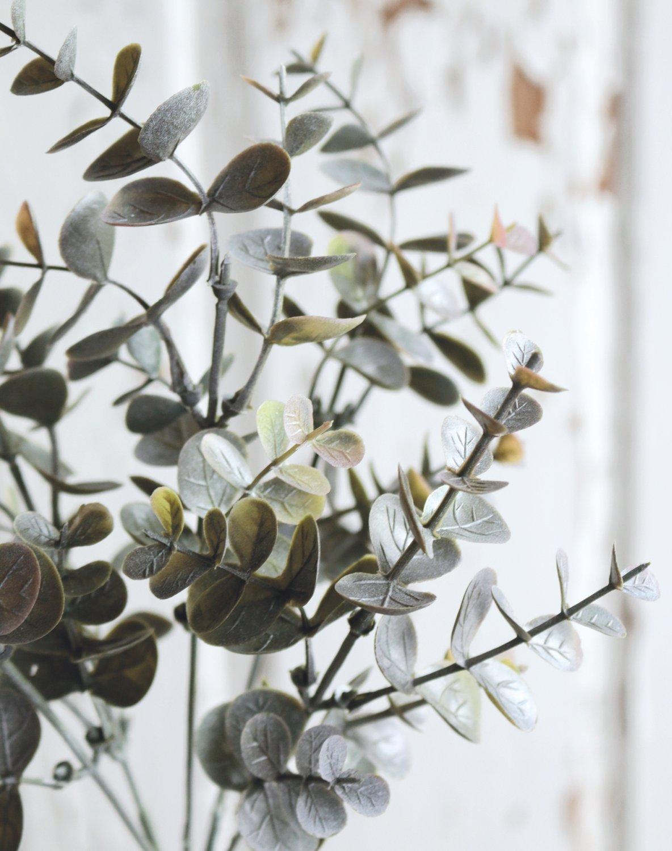 Künstlicher Eukalyptusbusch, 5-fach, 30 cm, grün-grau