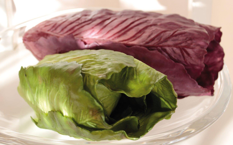 Künstlicher Chinakohl, 27 cm, burgunder-schwarz