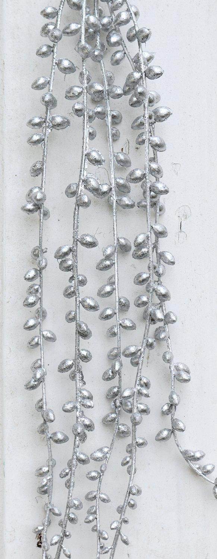 Künstliche Dekogirlande, 73 cm, silber