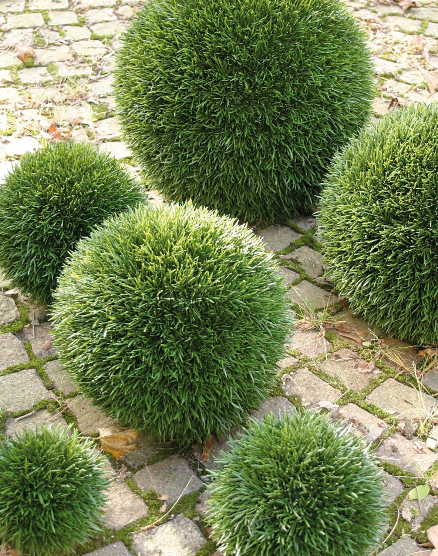 Künstliche Graskugel aus Kunststoff, Ø 20 cm, grün