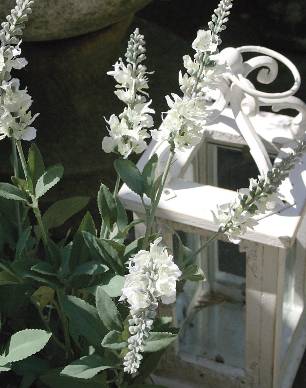 Künstlicher Lavendelbusch, getopft, 48 cm, weiß
