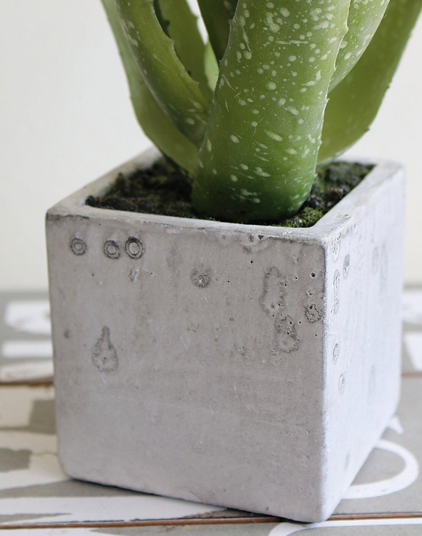 Künstliche Aloe, getopft, 35 cm, grün