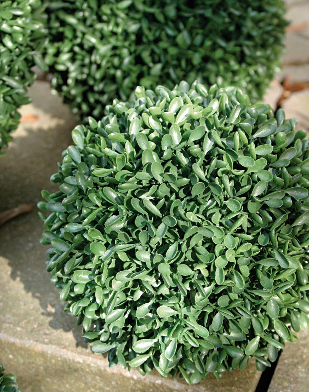 Künstliche Buchsbaumkugel aus Kunststoff, Ø 15 cm, grün