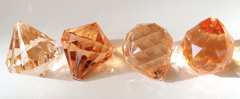 Deko Diamanten / -kugeln, 3 Farbtöne, 4 cm, goldgelb