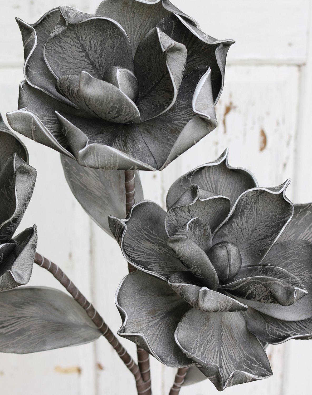 Künstliche Soft flower 'Blüte', 115 cm, schwarz