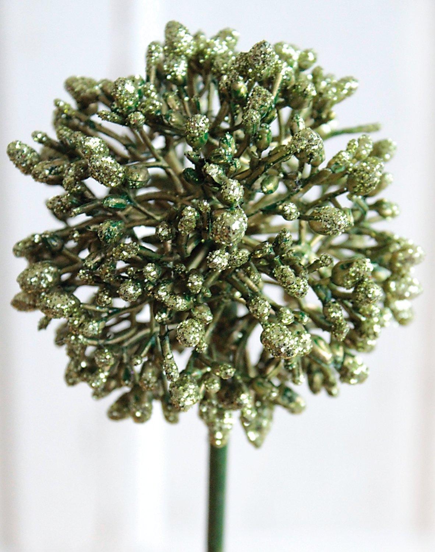 Künstlicher Allium, 45 cm, grün-gold